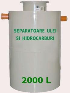 separator hidrocarburi cu trapa namol