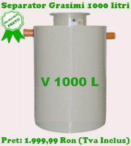 separator de grasimi 1000 litri