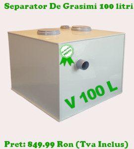 separator de grasimi 100 litri