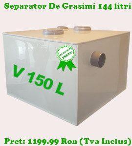 separator de grasimi 144 litri