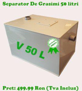 separator de grasimi 50 litri