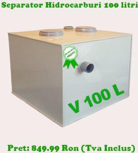 separator de hidrocarburi 100 litri