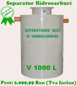 separator hidrocarburi 1000