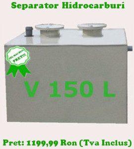 separator hidrocarburi 150 litri